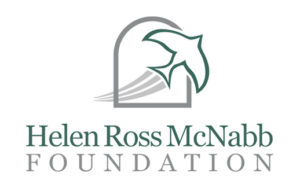 Helen Ross Mcnabb Foundation transparent logo 2 color with a bird swoosh